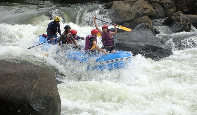 Wildwasser-Rafting in Coorg (Karnataka)