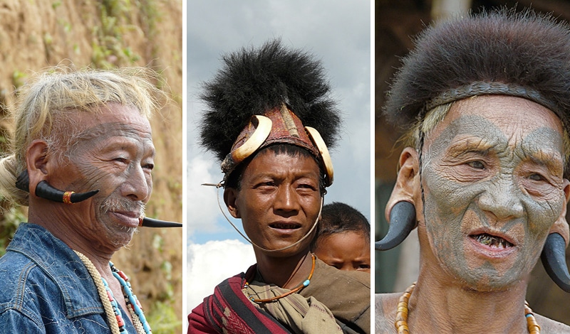 Die Konyak in Nagaland. Foto: Rita Willaert