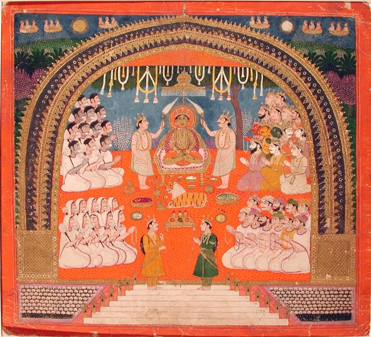 Die Anbetung von Mahavira (aus dem San Diego Museum of Art)