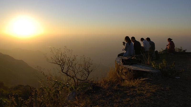 Sonnenuntergang am Mt. Abu. Foto: Selmer van Alten