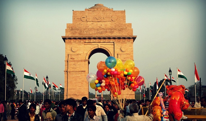 Das India Gate in Neu-Delhi am Tag der Republik. Foto: Shilpi Boylla