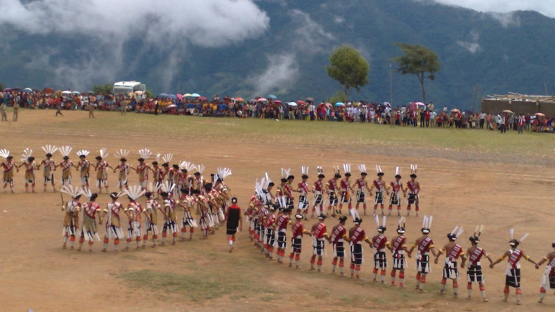 Tänzer in Nagaland. Foto: Vikram Aiyappa