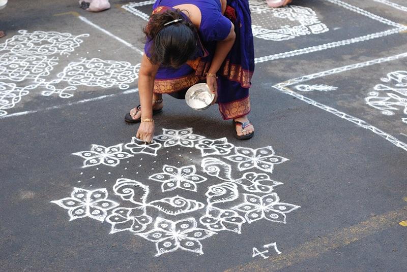 Mylapore Festival Kolams. Foto: Balaji Shankar