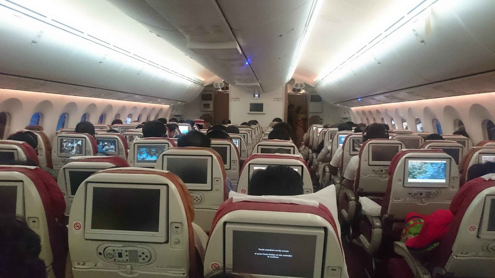 Air India Dreamliner, Inneres