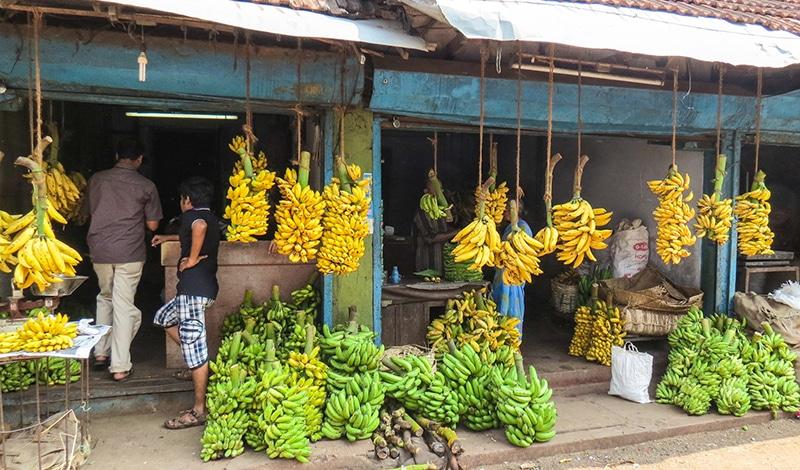 Bananenverkaufsstand