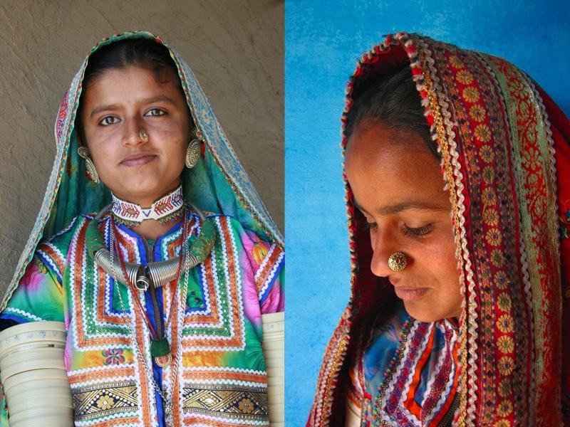 Frauen in farbenprächtiger Kleidung. Foto: Meena Kadri