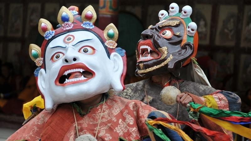 Das Hemis-Festival ist ein spektakuläres Event