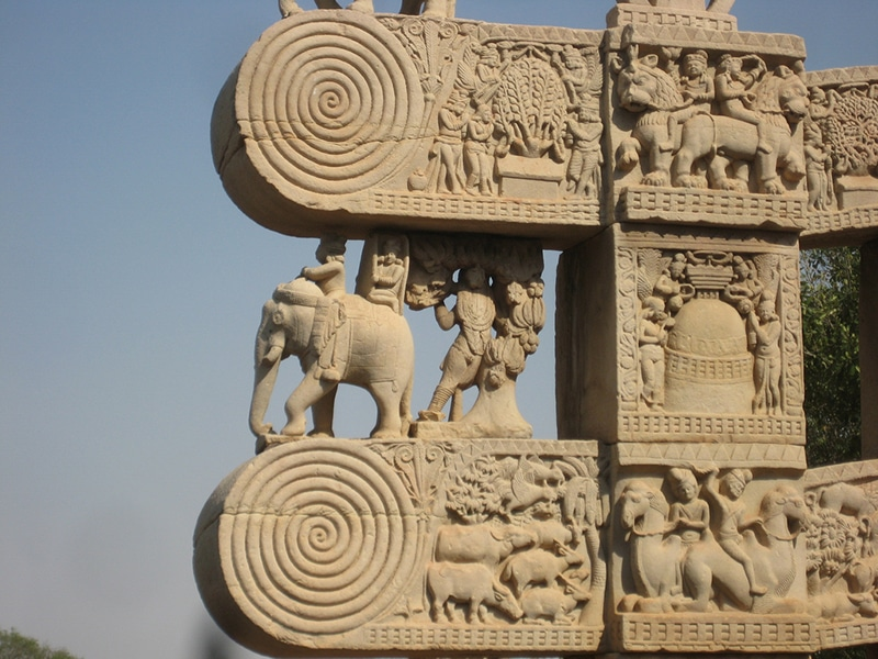 Stupa in Sanchi. Foto: tjollans