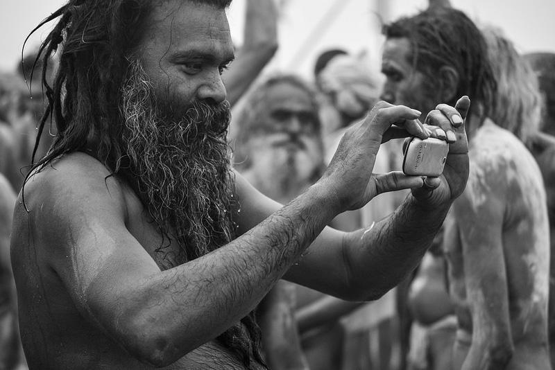 Kaum einer, der in Indien kein Handy hat ... Foto: utilitarian