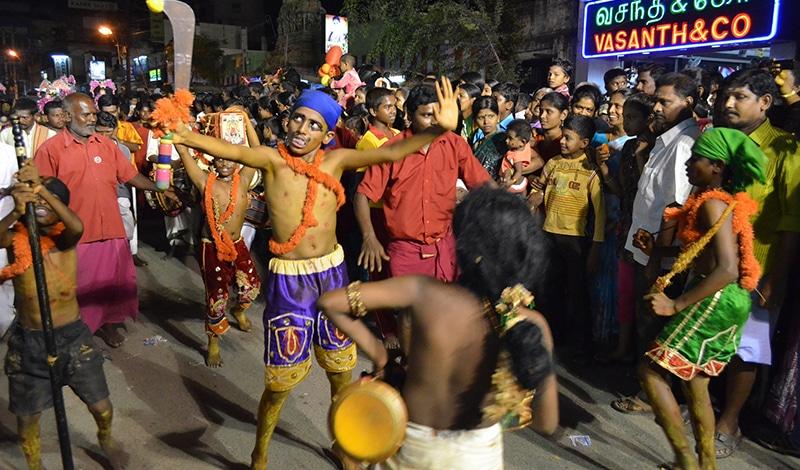Tagelang wird beim Chithirai Festival gefeiert.