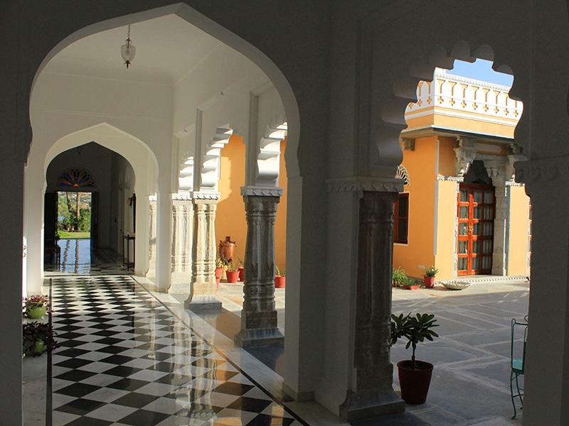 Der schöne Innenhof des Homestays. © Dev Shree Deogarh