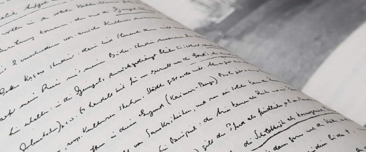 Ausschnitt aus einem der Briefe von Walter Ruben
