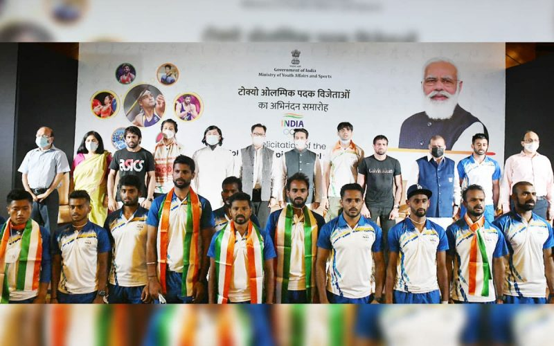 Felicitation of Indian Olympic Heroes. Photo: PIB, Govt of India.