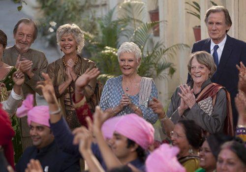 Celia Imrie, Ronald Pickup, Diana Hartcastle, Judi Dench, Maggie Smith und Bill Nighy (v. l. n. r.). © Twenties Century Fox