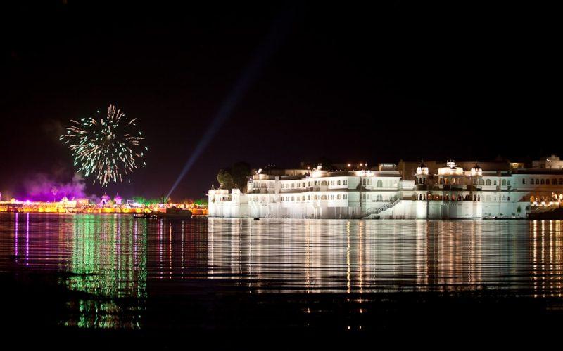 Feuerwerk über Udaipur. Foto: Andrew Newdigate