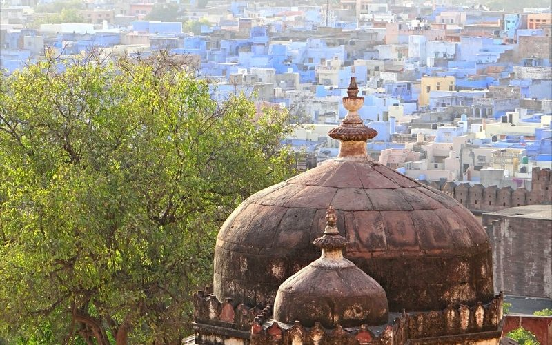 Jodhpur, die blaue Stadt. Foto: Jean-Pierre Dalbéra