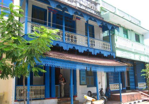 Im französischen Viertel von Puducherry. Foto: Melanie M.