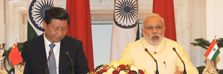 Indiens Premierminister Narendra Modi (rechts) mit Chinas Staatspräsident Xi Jinping im September 2014. Foto: Narendra Modi (flickr ccl)