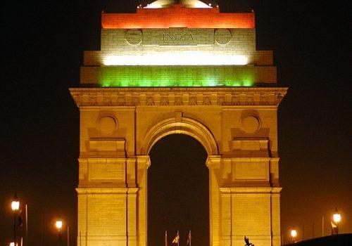 Das India Gate auf dem Boulevard Raj Path im Regierungsviertel in Neu-Delhi am Republic Day. Foto: Ramesh Lalwani