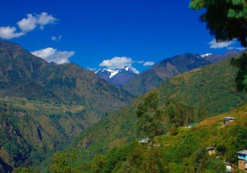 Ein Dorf in den Bergen Arunachal Pradeshs. Foto: appaji