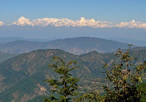 Bergpanorama in der Kumaon-Region. Foto: draskd