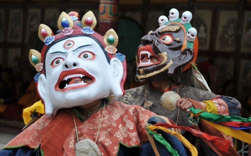 Maskentanz beim Hemis-Festival. Foto: rajkumar1220