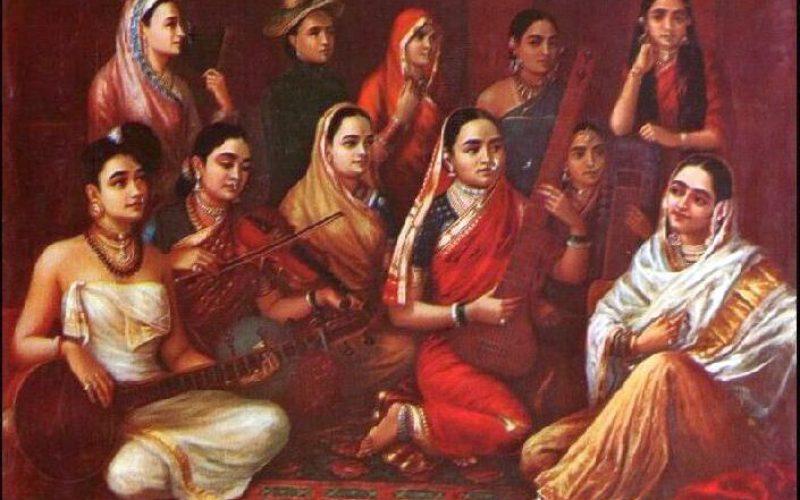 galaxy-of-musicians by Raja Ravi Verma 18th Century