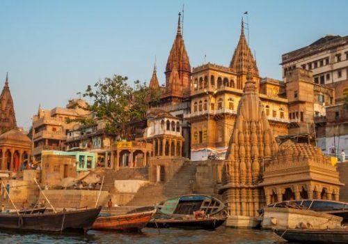 Varanasi. Morgens am Fluss Ganges