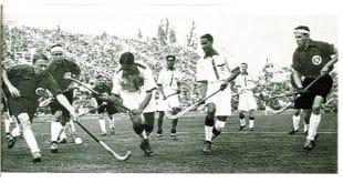 Das indische Hockey -Team 1936 bei den Olympischen Spielen in Berlin. Foto: Indische Botschaft, Berlin