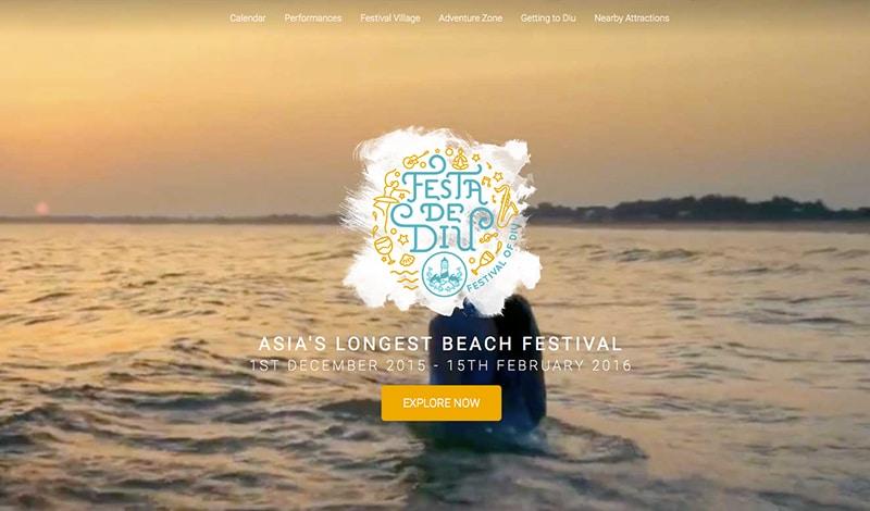 Festa de Diu (Bildschirmfoto der Webseite)