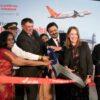 Ribbon-Cutting zur Einweihung des Fluges von Air India zwischen Frankfurt und Mumbai