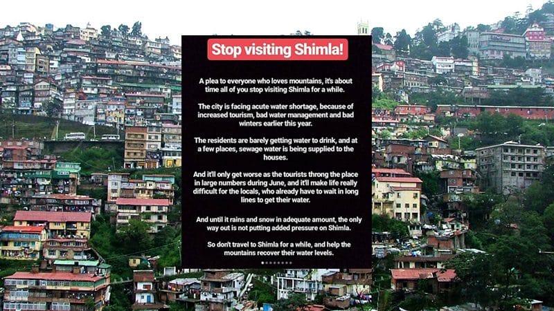 Shimla in Wassernot