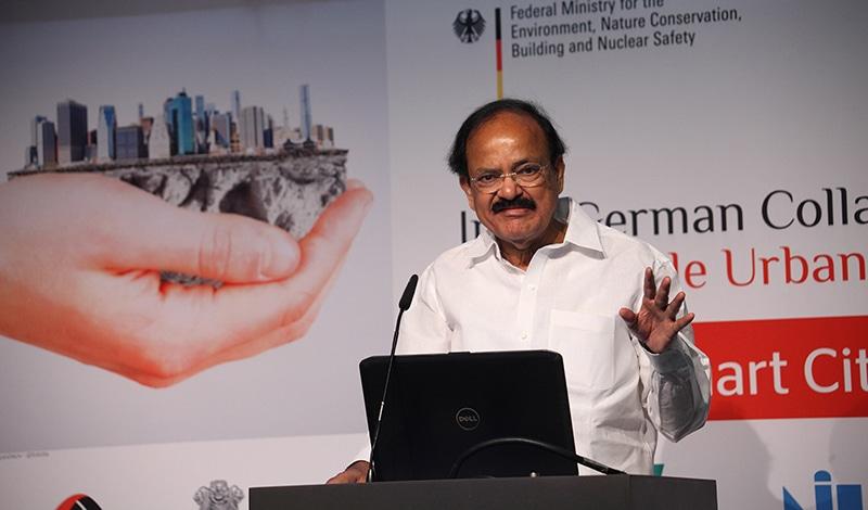 Minister M. Venkaiah Naidu, Minister für Stadtentwicklung, Wohnungsbau und urbane Armutsbekämpfung. Foto: Sera Cakal