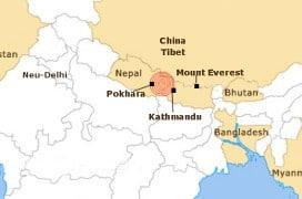 Das Zentrum des Bebens war nur 80 km von Nepals Hauptstadt Kathmandu entfernt und selbst in Neu-Delhi und Pakistan noch zu spüren.