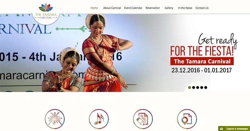(Screenshot der Webseite)