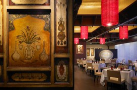 Interieur des Restaurants Varq in Neu-Delhi
