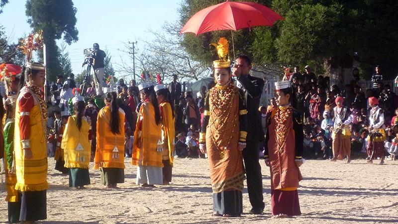 Tanzfest in Smit (Meghalaya). © Foto: Dr. Hiltrud Rüstau